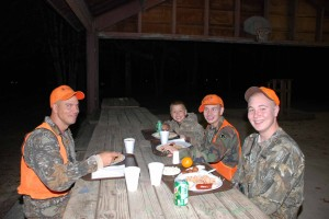 Sean Houston and his sons Hunter, Cole and Luke