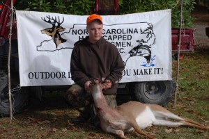 Hunter Houston with his first deer
