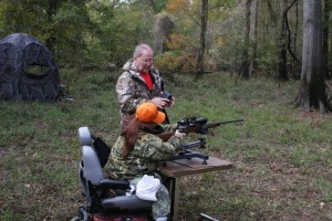 Debra using her hunting rig