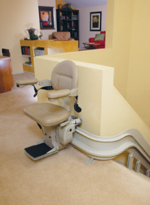 stair lift inside of someone's home
