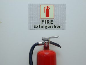 fire extinguisher by SmartSignBrooklyn on flickr cc